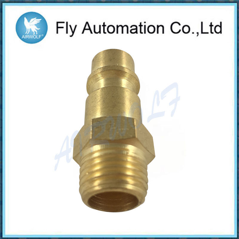 "Rectus Series Pneumatic Tube Fittings Brass Male Thread G1 / 4"" Connection"