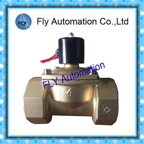DN100 4 Inch  Water Pressure Valves Threaded 2 Way Brass 2/2 way AC220V DC24V