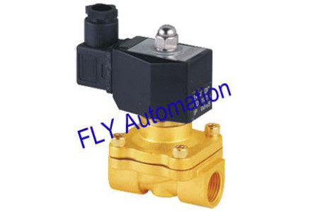 220VAC DIN43650A 2 Way Forged Brass Conductive Water Solenoid Valves 2W160-10 UW-10